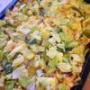 鮭と春キャベツのオーブン焼きマヨ風味