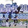 【天皇賞秋 2020】過去10年データと予想