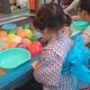 洋服生地で作った子供の着物☆祭りへ行った。