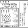ヒガシマル醤油株式会社 第89期決算公告 / 減少公告