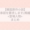 【韓国小説】再婚承認を要求します/再婚皇后<登場人物まとめ>