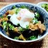 茄子と豚バラ肉の甘辛丼のレシピ