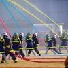 『出初式・館林地区消防組合消防隊』~カラー放水と伝書鳩の競演に会場沸く~