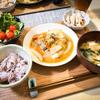 1/20の晩ごはん(白菜麻婆と蒸し鶏)