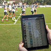 グローバル・ポジショニング・システム:GPS(主に試合のパフォーマンス、疲労、およびトレーニング強度を調査している)