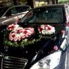 結婚式の装飾車