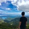 ニュージーランド旅行記16 グレートバリア島 ホブソン山頂上は絶景!