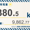 7/28〜8/3の総発電量は937.60kWh(目標比133.8%)でした