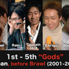 "Top 40 notable Japanese Melee players before Brawl (2001-2008) | ""Gods"" 1st-5th"