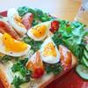 トロっと卵のウインナーエッグトースト【食パンアレンジレシピ】