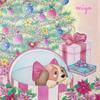 「世界の花模様を楽しむディズニー・ガールズと小さな仲間たちのぬり絵」本の紹介とP66の作品