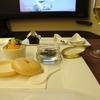 JAL ファーストクラス 機内食 キャビアに始まって・・・ ファーストにふさわしい人って?? 2017シドニー・ニュージーランドその4
