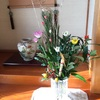 お正月お花準備とお昼ごはん