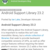 Android Support Library 23.2で追加されたChrome Custom TabsのBottom barを試してみた。