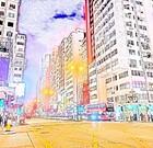 ★香港・麻油地★いつも賑やか交差点、女人街、男人街も近くに!