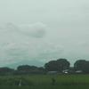 ハッキリしない天気のせいで筑波山が良く見えない。