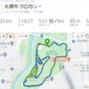 真駒内公園でクロカン12km、中国東北飯店