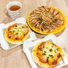 雪松餃子と冷凍ピザ