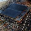 焚き火と鉄板で避難時にも調理を。