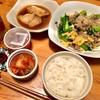 晩ご飯は小松菜と卵炒め、仕事は難航
