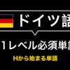 【保存版】ドイツ語 B1必須単語&例文リスト- Hから始まる単語帳