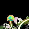 きのことテントウムシ/Mushroom and ladybug/オリジナルキノコ(1)