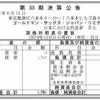 ゴールドマン・サックス・ジャパン・リミテッド 第33期決算公告
