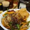 牛春雨プルコギとメンチカツの合い盛り丼