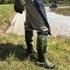ウェットスーツを素材に使った長靴GREEN MASTERは軽くて脱ぎ履きラクチンだよ!
