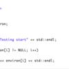 C++ 環境変数の名前を取得する