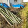 稲干し台と竹竿を補充しました。来週天日干しです♪