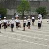 2・4年生:運動会ペア練習② 2年生徒競走