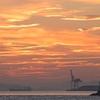 壇ノ浦漁港から日の出を