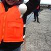 寒風の中の釣り 民泊体験