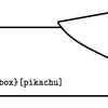 tcolorbox でピカチュウフレーム