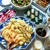 天ぷら、笹蒸し寿司などで晩酌&年越しそば(実家)