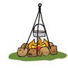焚き火名人への道〜薪の組み方編!煙ばっかり出て上手くいかない人必見!