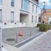 初代左京区役所跡の石碑。