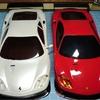 【Mini-Z】フェラーリ360GTCのホワイトボディとマクラーレン12Cの調整