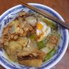幸運な病のレシピ( 1799 )昼:小松菜うどん、玉ねぎかき揚げ、ちくわ磯辺揚げ
