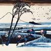 北斎冨嶽三十六景新作、駿州江尻をアップしました!