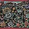 絵画鑑賞スイング52            スクラッチアートは字も書ける