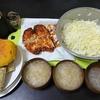 チキンカツサンド、オニオンスープ