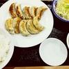 餃子市場@大井町(焼き餃子(5コ)+しそ餃子(5コ)定食)