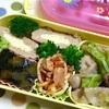 ヨメさん弁当~野菜炒め・かぼちゃの煮物・ミートスパ~
