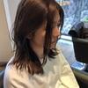 長い前髪をスッキリ流し前髪風にアレンジ②
