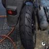 #バイク屋の日常 #スズキ #レッツ4 #タイヤ交換 #CA46A #スリックタイヤ