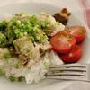 肉巻きお弁当 と 茹で鷄で二品