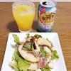 毎年の楽しみ☆イチヂクと白桃のサラダ☆デザートはパパブブレ☆