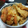 今日の晩飯 天丼とかぼちゃの煮物を作ってみた